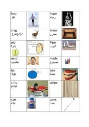English Worksheets: Magic E concept. English for Arab speakers