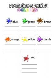 colours spelling esl worksheet by iamirish21. Black Bedroom Furniture Sets. Home Design Ideas