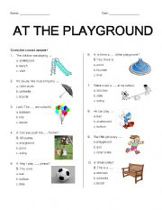 Vocabulary worksheets > School > At the playground