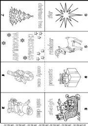 English worksheets christmas vocabulary mini book