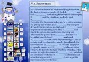 English Worksheet: Mr Snowman