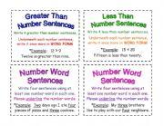 English Worksheets: Math Task Cards