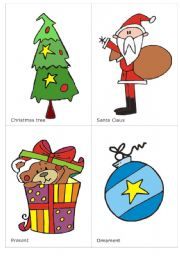 English Worksheets: Christmas flash-cards