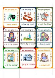 English Worksheet: GO FISH! Are you going to ...