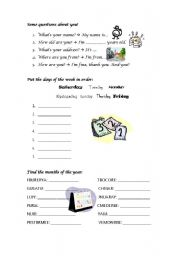 English Worksheets: Some questions about you!