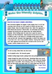 English Worksheets: Moko the friendly dolphin
