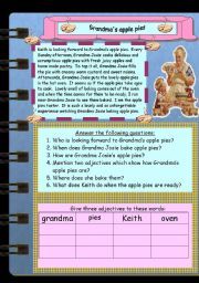 English Worksheets: Grandma�s apple pies