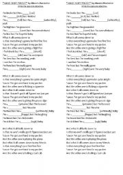 English Worksheets: Song Hand in my pocket by Alanis Morissette