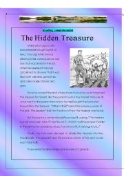 English Worksheets: The Hidden Treasure