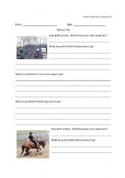 English worksheets: Point of View integrated into Forces