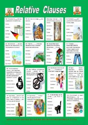 English Worksheets: Relative Clauses 4