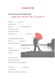 English Worksheet: Stand by me