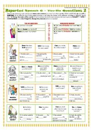 English Worksheets: 6 REPORTED SPEECH - yES-nO qUESTIONS 2