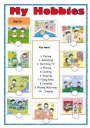 English teaching worksheets: Hobbies