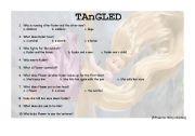 English Worksheet: TANGLED 15 TO THIRTY MINUTES