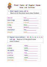 English Worksheets: Plural Forms of Regular Nouns