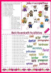 English Worksheets: Jobs&Occupations