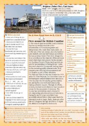 English Worksheets: Britain´s Piers