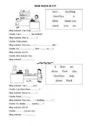 English Worksheets: How much is it?