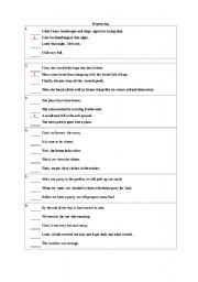 English Worksheets: squencing