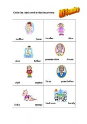 English worksheet: My Family