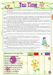 English Worksheet: Tea Time