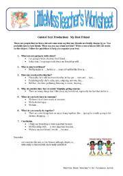 English worksheet: My best friend