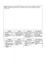 English worksheet: constructed response