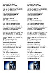 English Worksheet: Lenny Kravitz - I BELONG TO YOU