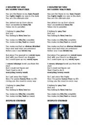 English Worksheets: Lenny Kravitz - I BELONG TO YOU