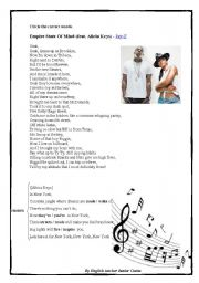 English Worksheet: Empire State Of Mind (feat. Alicia Keys) - Jay-Z