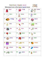 Plural Nouns – Regular (2 of 3)