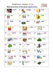 Plural Nouns – Regular (3 of 3)