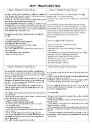 English Worksheet: Death penalty role play