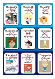 English Worksheet: Possessive case - Speaking cards II