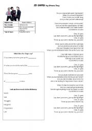 English Worksheets: 21 guns by Green Day
