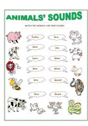 English Worksheets: animals� sounds