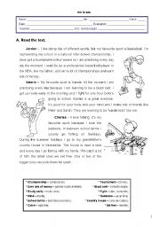 Worksheet - 2nd term - 6th grade - I