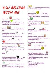 English Worksheets: You belong with me