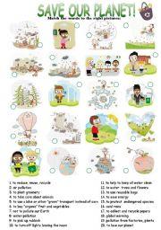 English Worksheets: Enviromental Protection