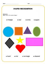 English worksheets: the Shapes worksheets, page 36