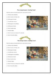 English Worksheets: Wallace and Gromit - The Wrong Trousers: Cracking Toast!