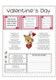 English Worksheet: Valentine´s Day Poems