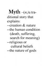 English Worksheets: mythology