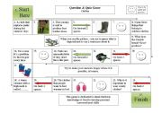 English Worksheet: Clothes - Board Game