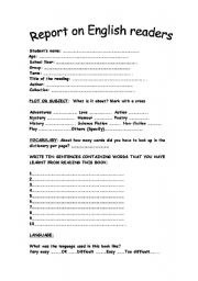 English Worksheets: REPORT ON ENGLISH READERS