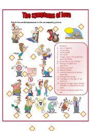 English Worksheet: symptoms of love