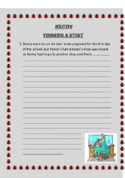 English Worksheets: writing prompts