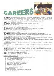 Career worksheets for elementary