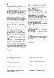 English Worksheets: reading comprehension - Ice Cool
